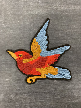 Bügelmotiv 'Vogel rot'