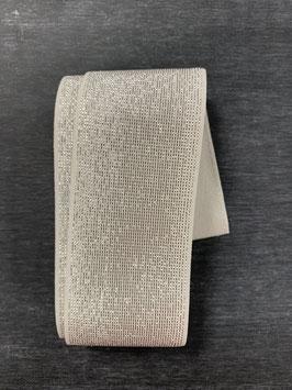 Bündchengummi weiß silber