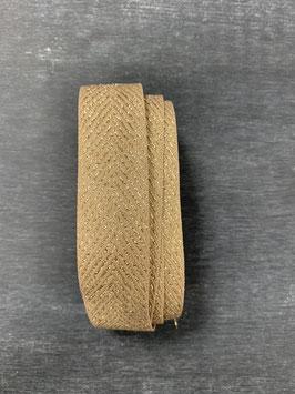 Ripsband beige gold