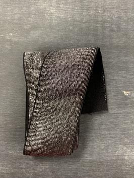 Bündchengummi schwarz silber