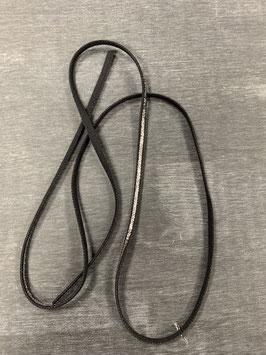 Gummiband schwarz silber