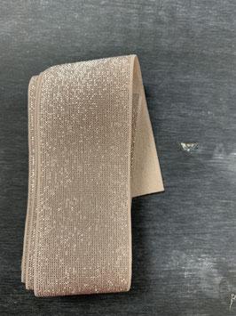 Bündchengummi natur silber