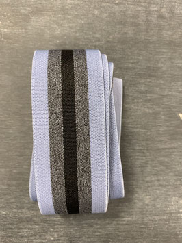Bündchengummi hellblau grau schwarz