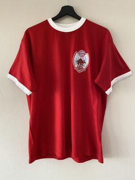 Red Bulls Taubenbach T-Shirt 25 Jahre Jubiläum / Retro Look in Rot