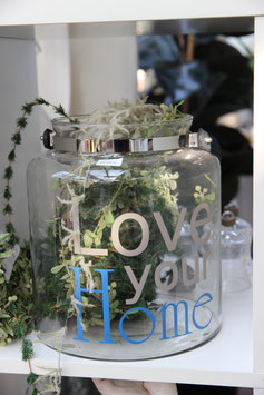 """Glas """"Love your home"""""""
