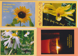 4 verschiedene Foto-Faltkarten: FÜR DICH