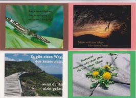 4 verschiedene Foto-Faltkarten: LEBE DEINEN TRAUM