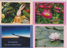 4 verschiedene Foto-Faltkarten: ANLÄSSE 6