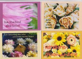 4 verschiedene Foto-Faltkarten: ANLÄSSE 3