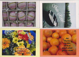 4 verschiedene Foto-Faltkarten: ANLÄSSE 5