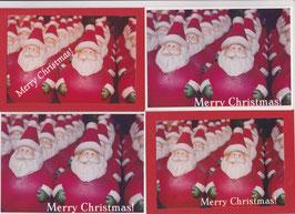 4 Foto-Faltkarten:  MERRY CHRISTMAS