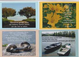 4 verschiedene Foto-Faltkarten: EIN WEITERER KLEINER SCHRITT