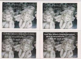 4 Foto-Faltkarten:  GOTT HAT SEINEN ENGELN BEFOHLEN