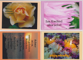 4 verschiedene Foto-Faltkarten: ANLÄSSE 1