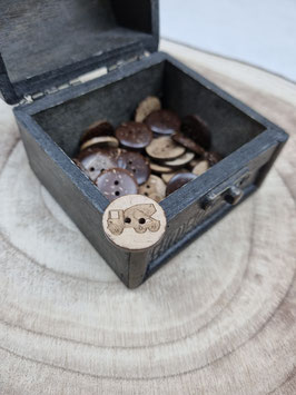 Kokosnussknopf Eigenproduktion - 20mm - 2 Loch Betonmischer Neu