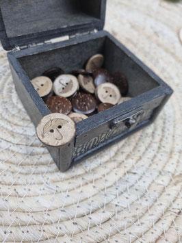 Kokosnussknopf Eigenproduktion - 20mm - 2 Loch Regenschirm