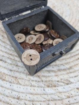 Kokosnussknopf Eigenproduktion - 20mm - 2 Loch Eichel