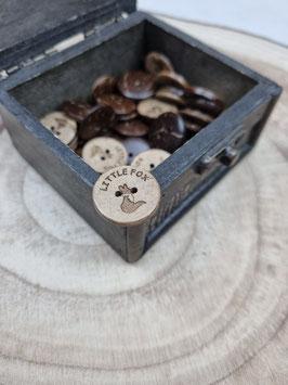 Kokosnussknopf Eigenproduktion - 20mm - 2 Loch Little Fox