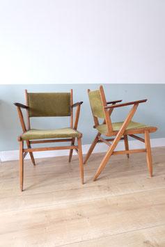 Vintage stoel groene bekleding  |  19.901.M