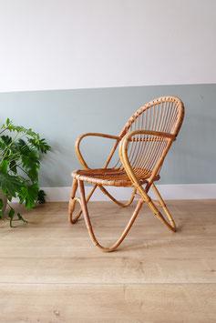 Vintage rotan fauteuil  |  18.830.M