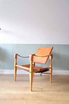 Safari stoel cognac leer  |  18.836.M