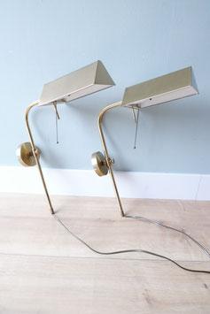 Set vintage wandlampen goud  |  18.828.L