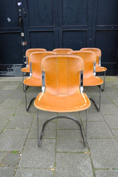 set van 6 vintage Willy Rizzo stoelen  |  19.1114.M