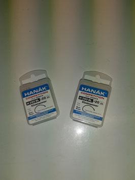 Fliegenbindehaken Hanak Grösse 18/20 Ohne Wiederhaken Shrimp 25 Stk. Zwei Schachteln