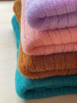 Gebreide sjaal UNI color