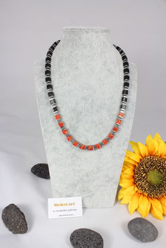 Schaumkoralle natur mit Onyx