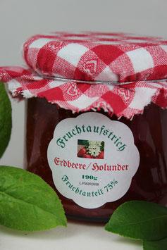 Erdbeer Holunder -Fruchtaufstrich (Marmelade)