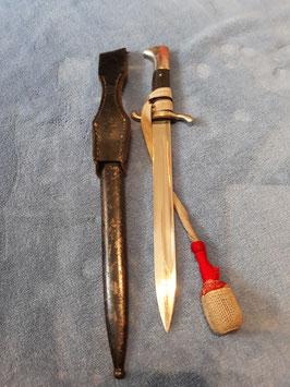 Ausgehseitengewehr  3.Reich Feuerwehr Faschinenmesser , Seitengewehr lange Version, Sehr seltener Hersteller!