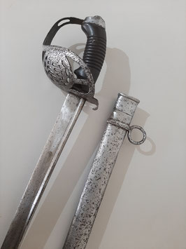 Kavallerie Säbel Sachsen M1892, KS92 für Mannschaften Kammerstück datiert 1903, Ulanenregiment nr. 17