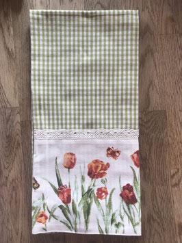Serie Tulpen grün kariert