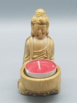 """Teelichthalter """"Buddha"""" klein - gold"""