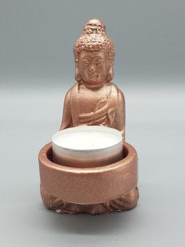 """Teelichthalter """"Buddha"""" klein - rotgold"""