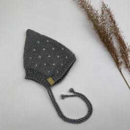 Pixiemütze Dots Grau