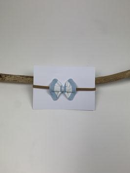 Haarband Schleife Blau/Weiss gestreift