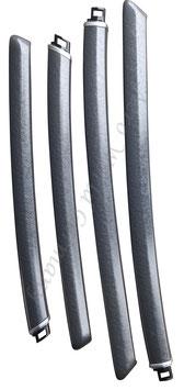 Dekorleisten Seitenverkleidung Design Alu Hammer Paint ab Bj. 2006-2010 Saab 9.5 YS3E