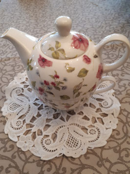 "Teekanne mit Tasse ""Clayre&Eef"