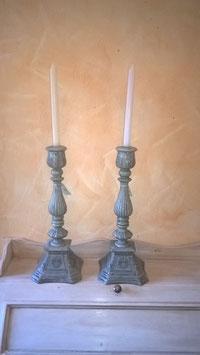Kerzenständer antik/grau Höhe 40 cm