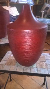 Keramikvase rot (passend zur Schale zuvor)