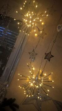 LED-Stern zum Hängen silber