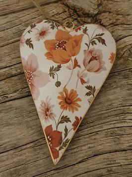 Hänger Herz mit Blumen