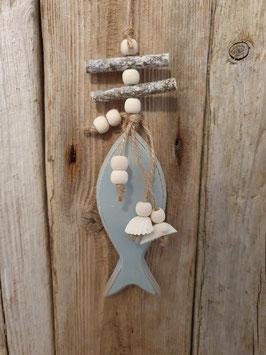 Deko Anhänger Fisch Blau
