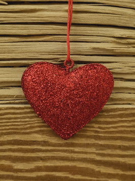 Herz rot Glitzer