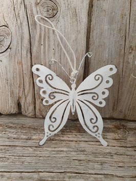 Schmetterling weiss zum aufhängen 9cm