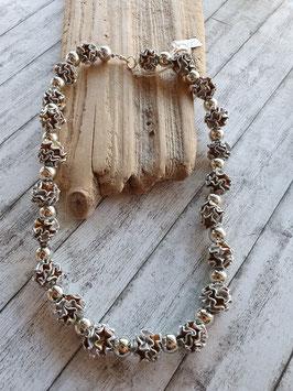 Halskette Wellenkugeln