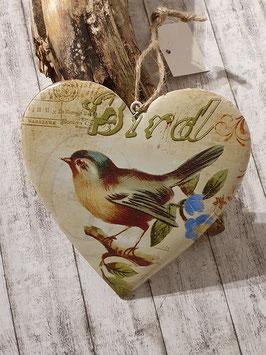 Herz Anhänger mit Vögeli bunt