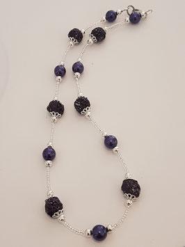 violette Kapselkugel Kette